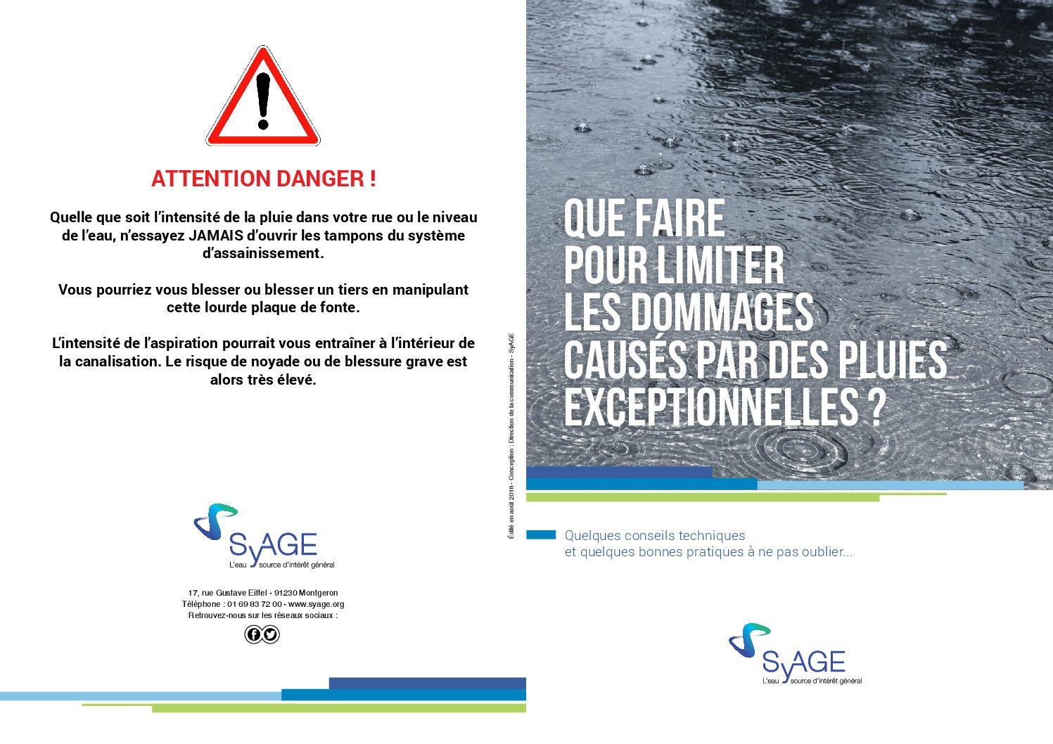 Que faire pour limiter les dommages causés par des pluies exceptionnelles ?